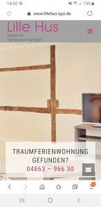 Lille Hus, Webdesign Referenz, Webdesign Dithmarschen, Webseitenerstellung, Grafik- und Gestaltungsschmiede Petersen, Printmedien Dithmarschen