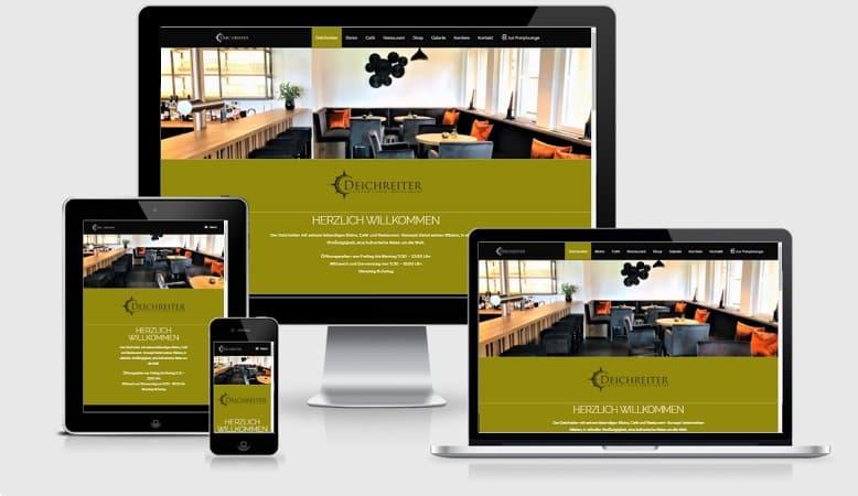 Portfolio unserer Website-Designs (Webseitenreferenzen von Grafik- und Gestaltungsschmiede Petersen) Raum Heide, Itzehoe, Husum